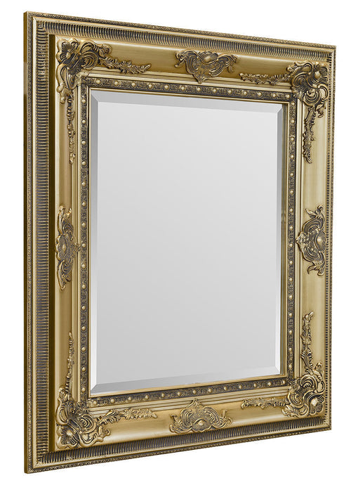 Classical Mirror Richard Wall Mirror Wooden Framed In Black Gold Or Silver - VEHome