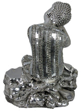 Load image into Gallery viewer, Silver Buddha Electroplated Buddha Resting on Knee Ornament - VEHome