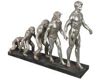 Load image into Gallery viewer, Silver Electroplated Evolution of Man Ornament - VEHome