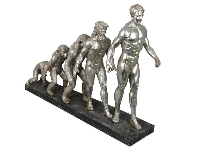 Silver Electroplated Evolution of Man Ornament - VEHome