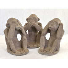 Load image into Gallery viewer, Monkey See Hear Speak No Evil Monkeys Ornament - VEHome