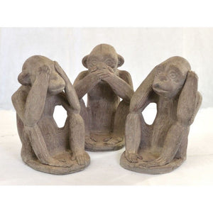 Monkey See Hear Speak No Evil Monkeys Ornament - VEHome