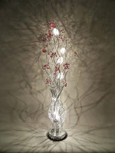 Load image into Gallery viewer, Silver Wire Floor Lamp with Crystal Berries In Green Clear Purple Red Or Black - VEHome