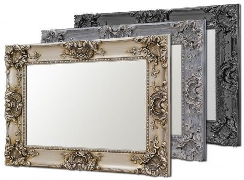 Wall Mirror Louis Boroque Style Vintage Mirror Classical Black Silver or Grey - VEHome