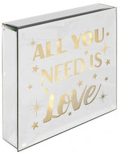 Load image into Gallery viewer, All You Need Is Love - Light Up Mirrored Plaque - VEHome