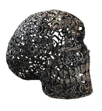 Load image into Gallery viewer, Beautiful Hand Made Metal Skull Sculpture Unique Design - VEHome