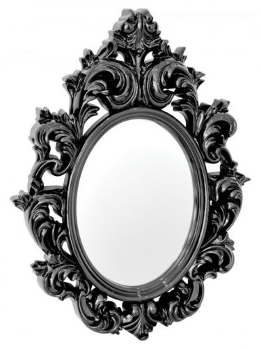 Catherine Wall Mirror Ornate Classical design In Black Silver or White - VEHome