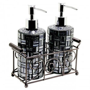 Mosaic Glass Tall Soap Dispensers (Set of 2) 2 colours available - VEHome