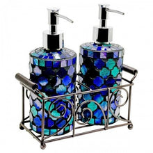 Load image into Gallery viewer, Mosaic Glass Tall Soap Dispensers (Set of 2) 2 colours available - VEHome