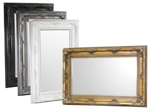 Classical LARGE Mirror Edward Wall Bevelled Mirror In Black Gold White or Silver - VEHome