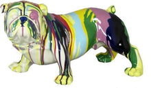 Load image into Gallery viewer, Multi colour Bulldog Ornament Paint Splash Standing Bulldog Ornament - VEHome