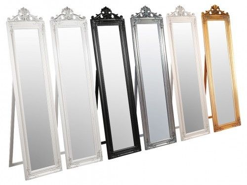 Elizabeth Standing Mirror Ornate Classical design In 6 colours Beautiful Mirror - VEHome