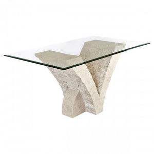 Stone Dining Table Seagull Mactan Stone Dining Table - VEHome