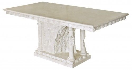 Beautiful Bellagio Dining Table Mactan Stone Sculpted Dining Table Unique Table - VEHome