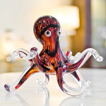 Load image into Gallery viewer, Lovely Glass Whiskey Brown Octopus Decorative Ornament Large - VEHome