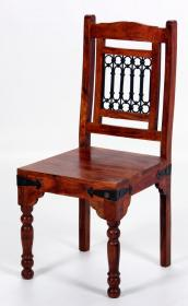 Jaipur Deco Dining Chair Solid Acacia Wood Rustic & Antique Look (Set of 2) - VEHome