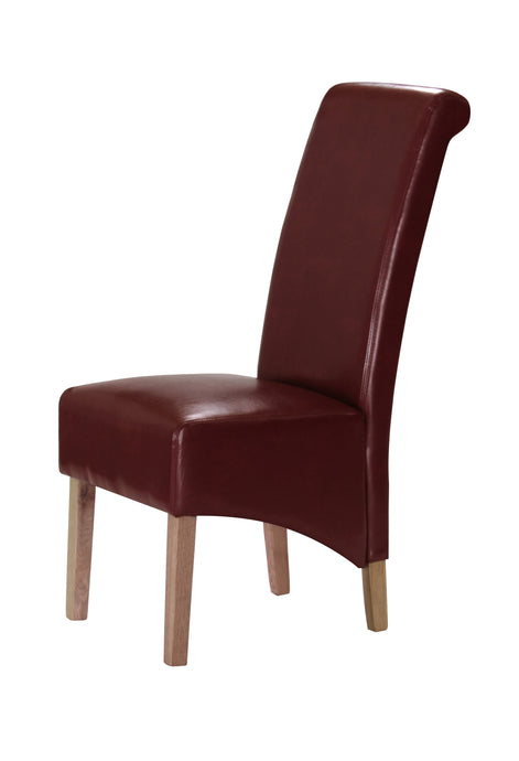 Trafalgar Dining Chair Rubberwood Leg In Black, Brown, Cream or Red (Set of 2)