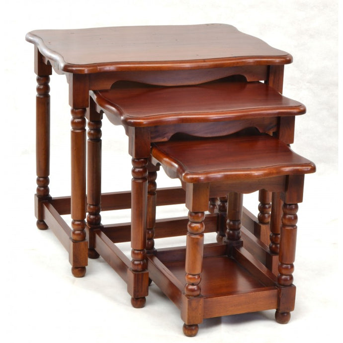 Victorian French Nest of Tables Mahogany Wood
