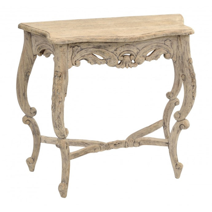 Vintage Carved Console Ornate Hand Made Table Solid Mahogany Wood