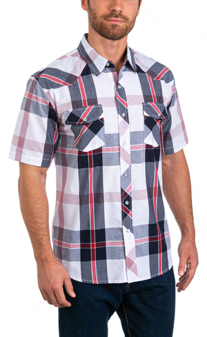 Brady Men's Short Sleeve Snap Button Shirt
