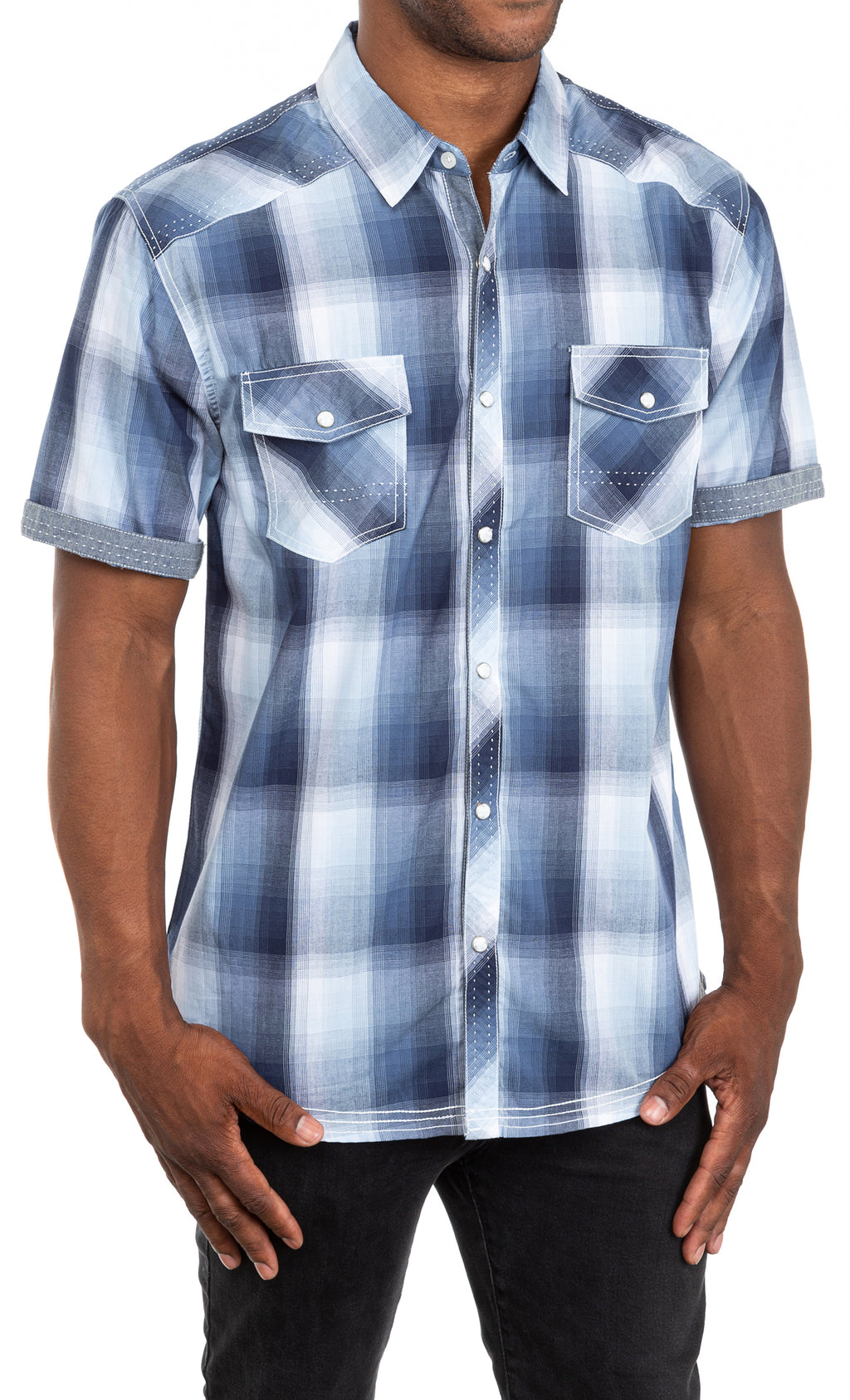 Refinery Button Front Plaid
