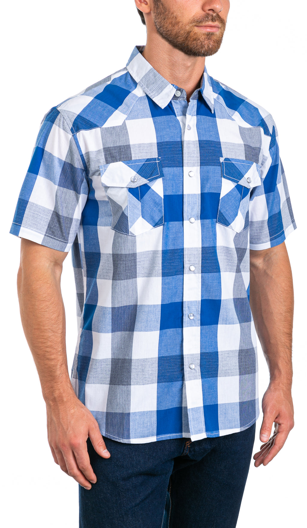 Sterling Men's Short Sleeve Snap Button Shirt