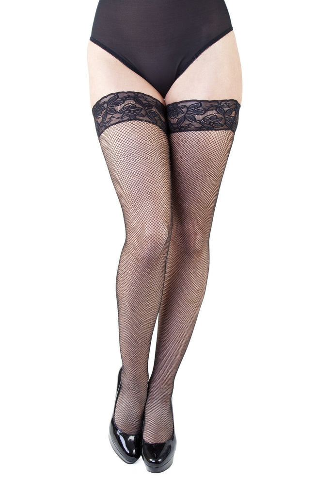 Bettie Page Sparkly Fishnet Hold-ups