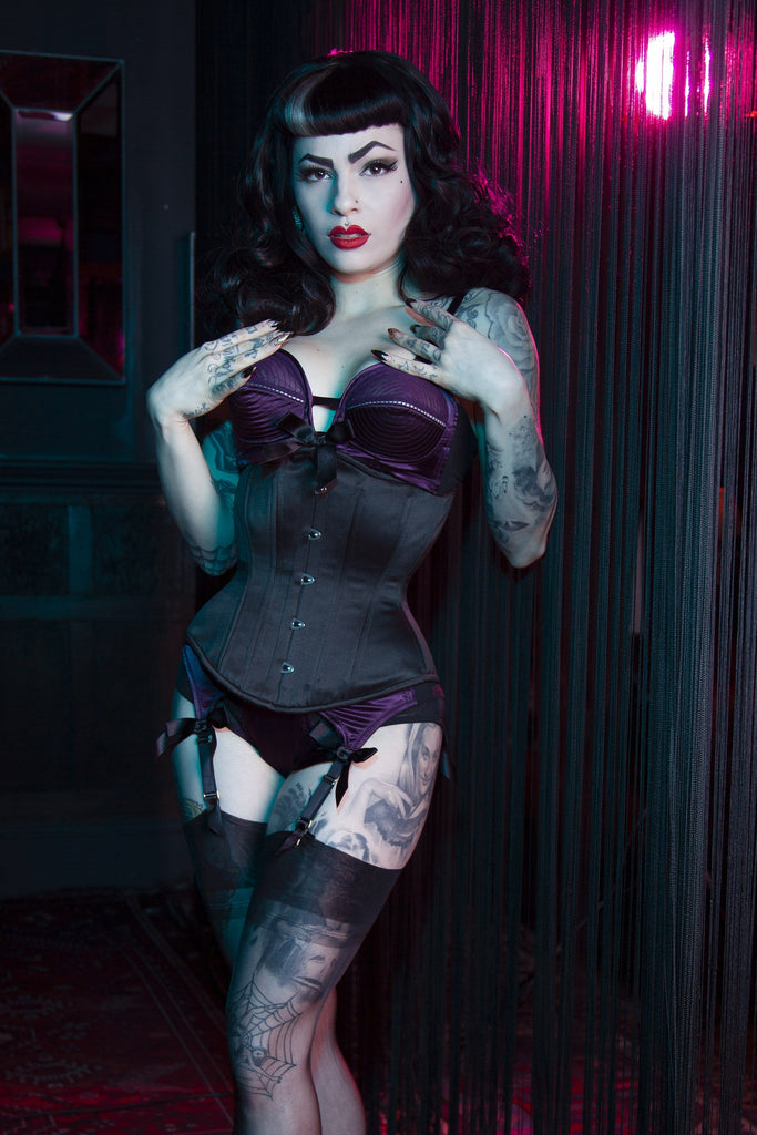 Bettie Page Satin Underbust Korsett