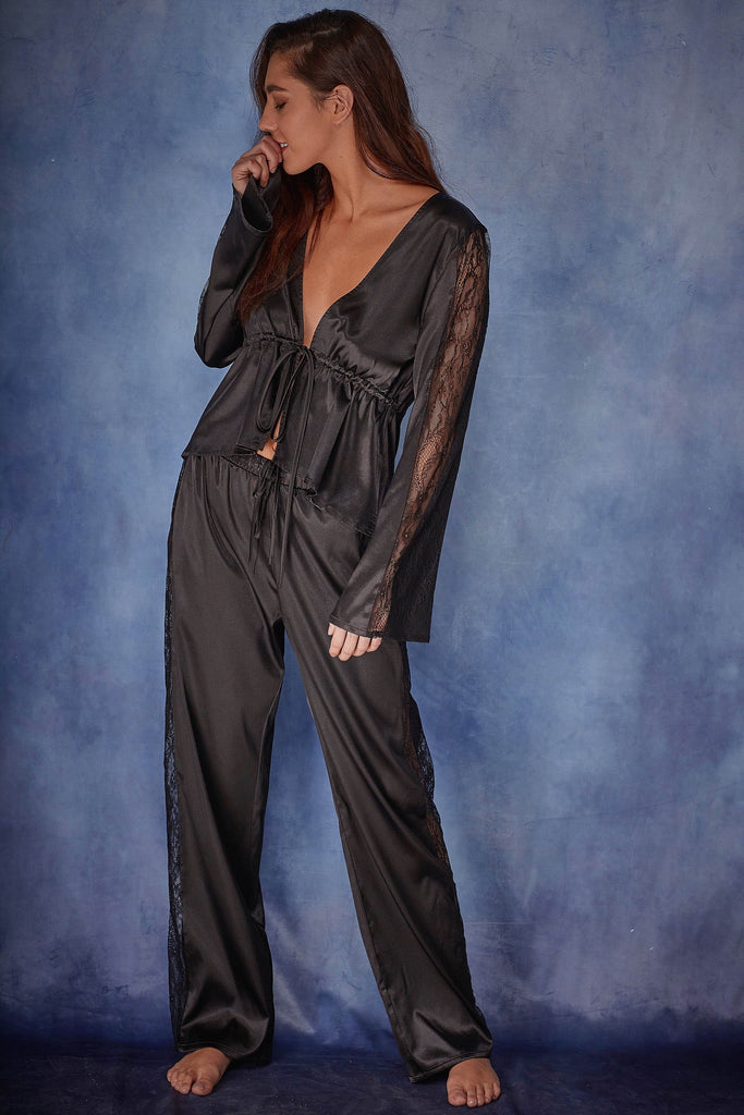 Wolf & Whistle India Satin Pyjama Set