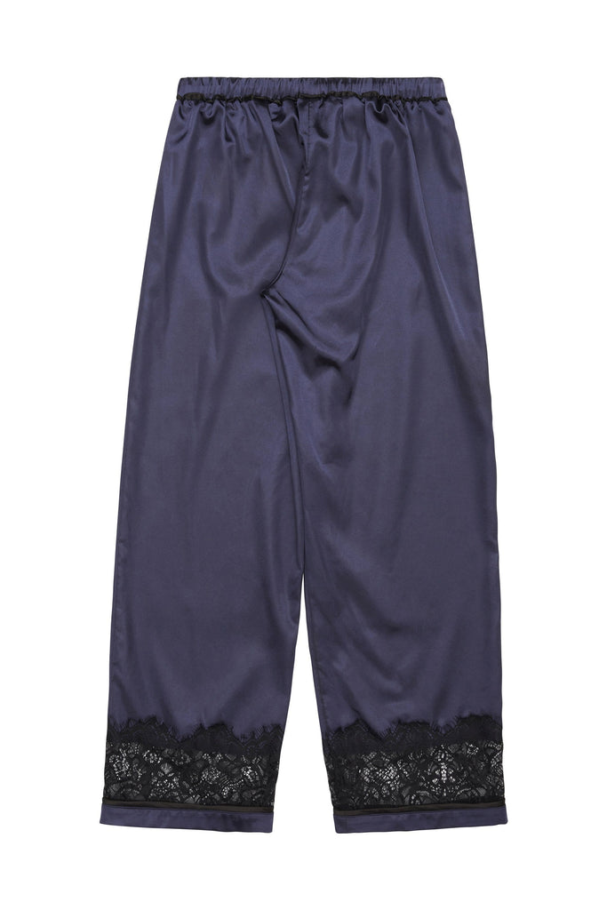 Wolf & Whistle Emmy Satin Pyjama Set Marineblau