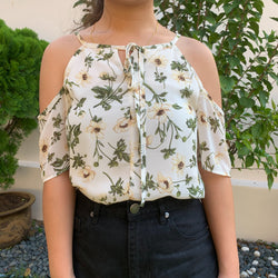 Cold shoulder Floral Shopsassydream top