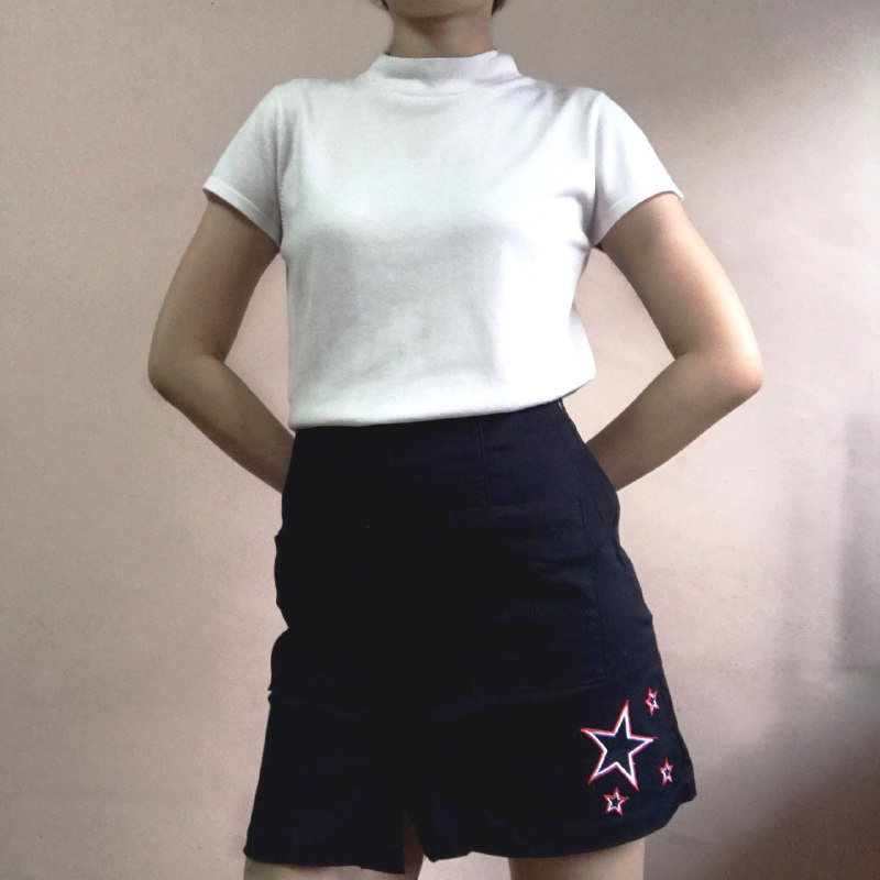 Mango navy skirt
