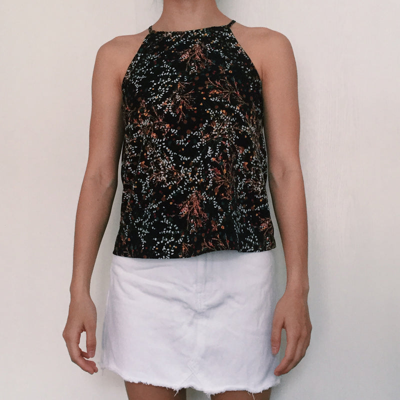 Love Bonito Black Floral Top