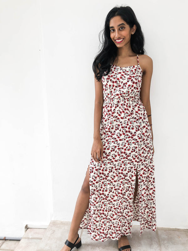 H&M floral peephole maxi dress