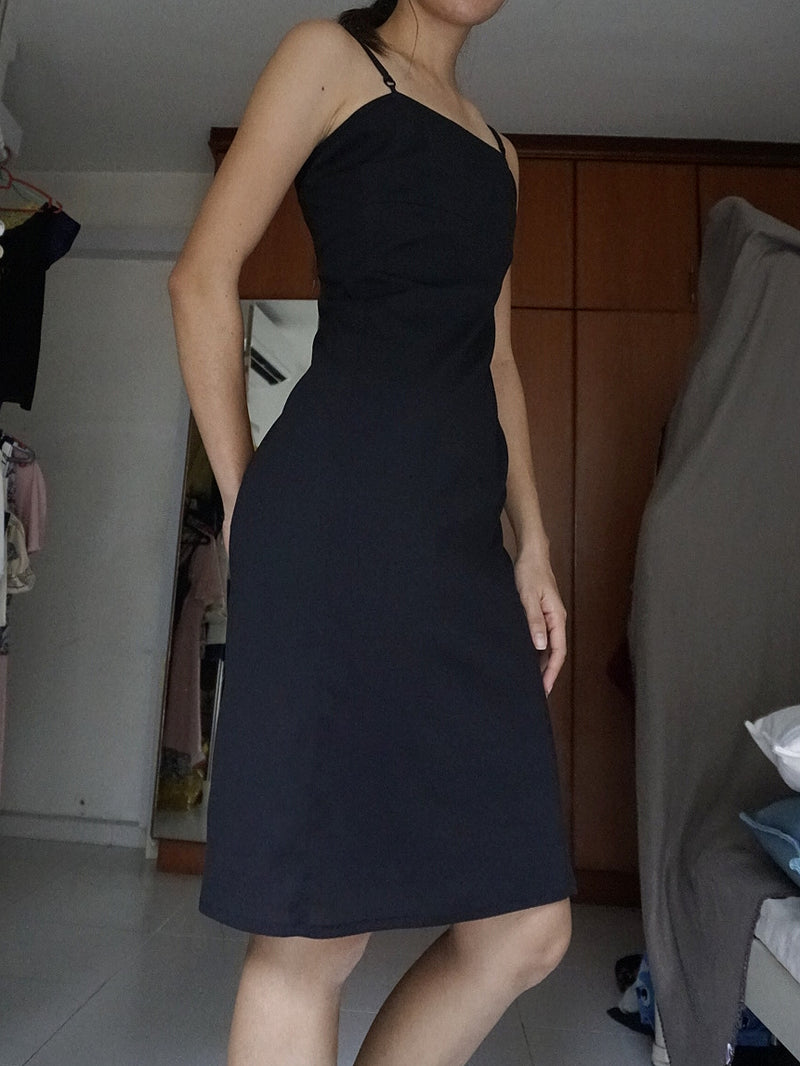 Mango Black Midi Dress