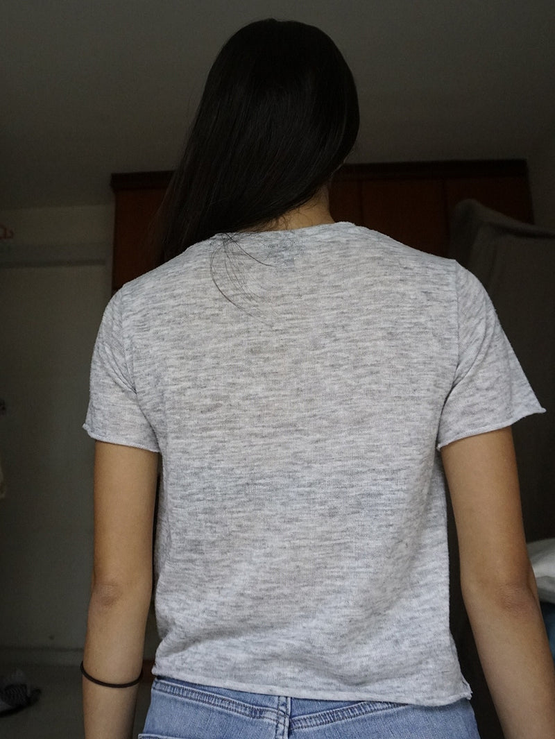 Topshop Daydreamer Tee In Grey