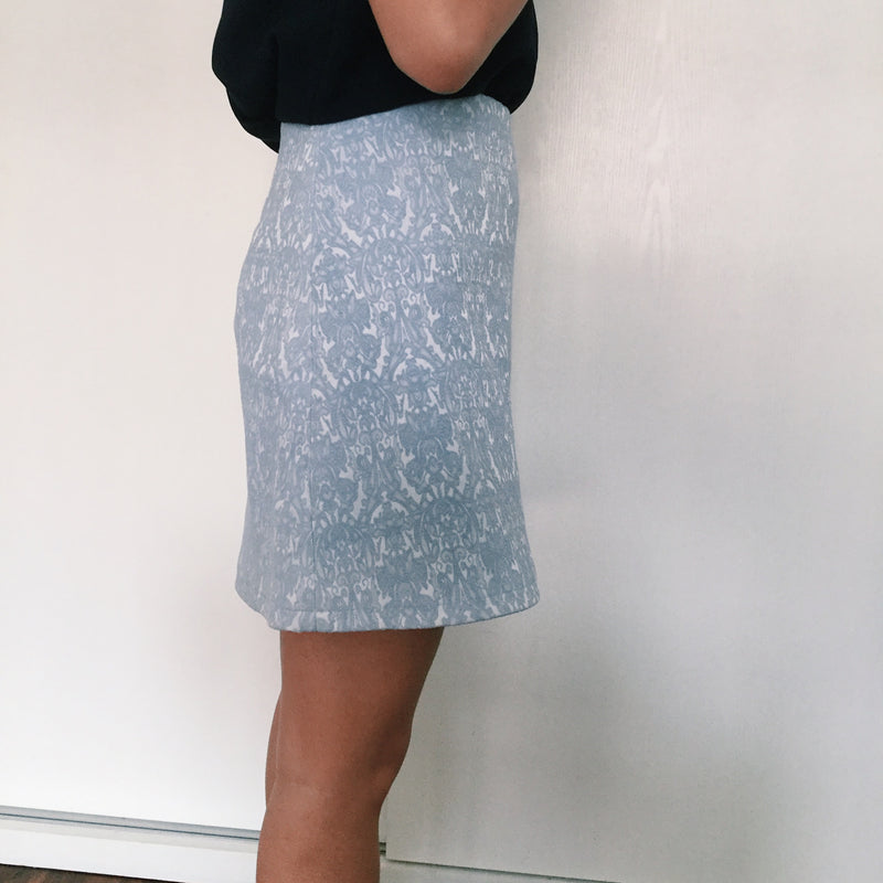 Love Bonito Embroidered Blue Skirt