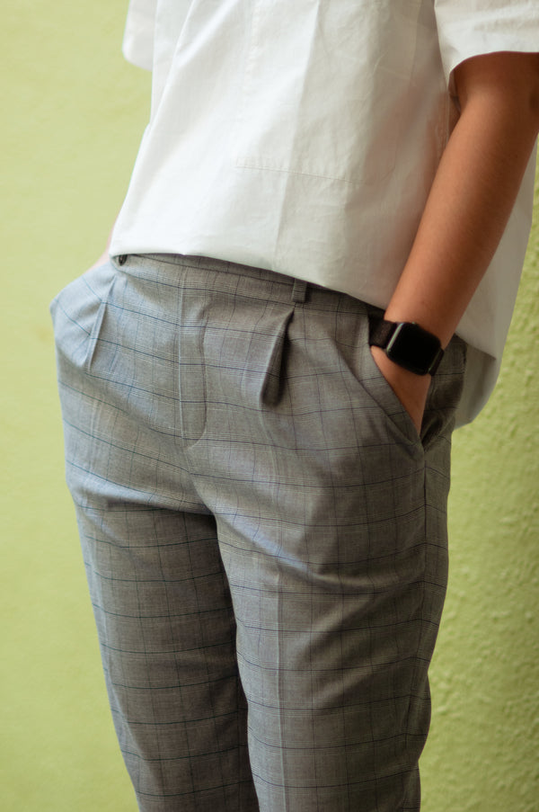 So EZY Pants! (Grey Plaid)