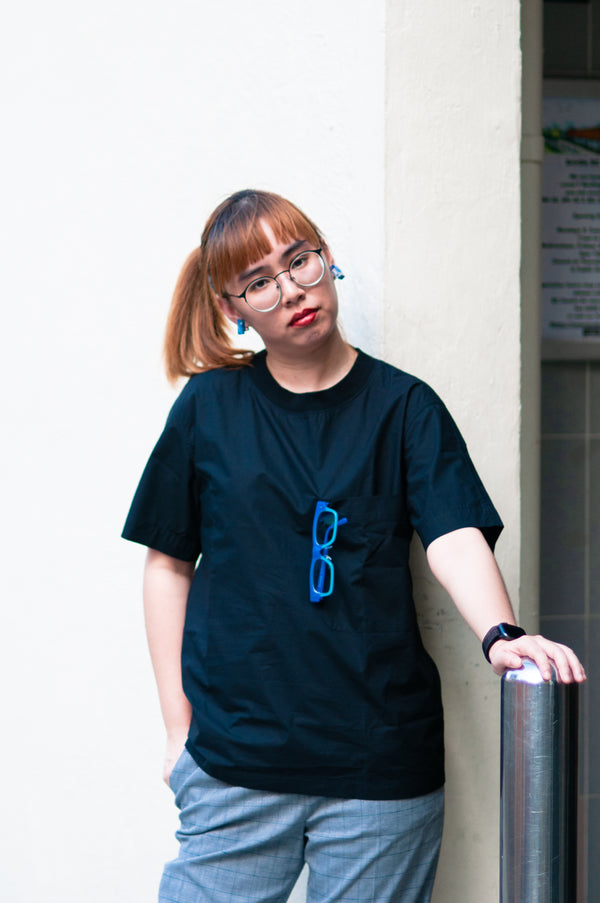 Black Canvas Giant Pocket Tee