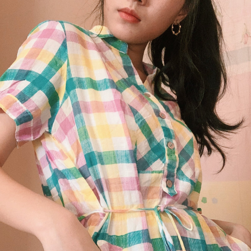 Checkered Shirtdress
