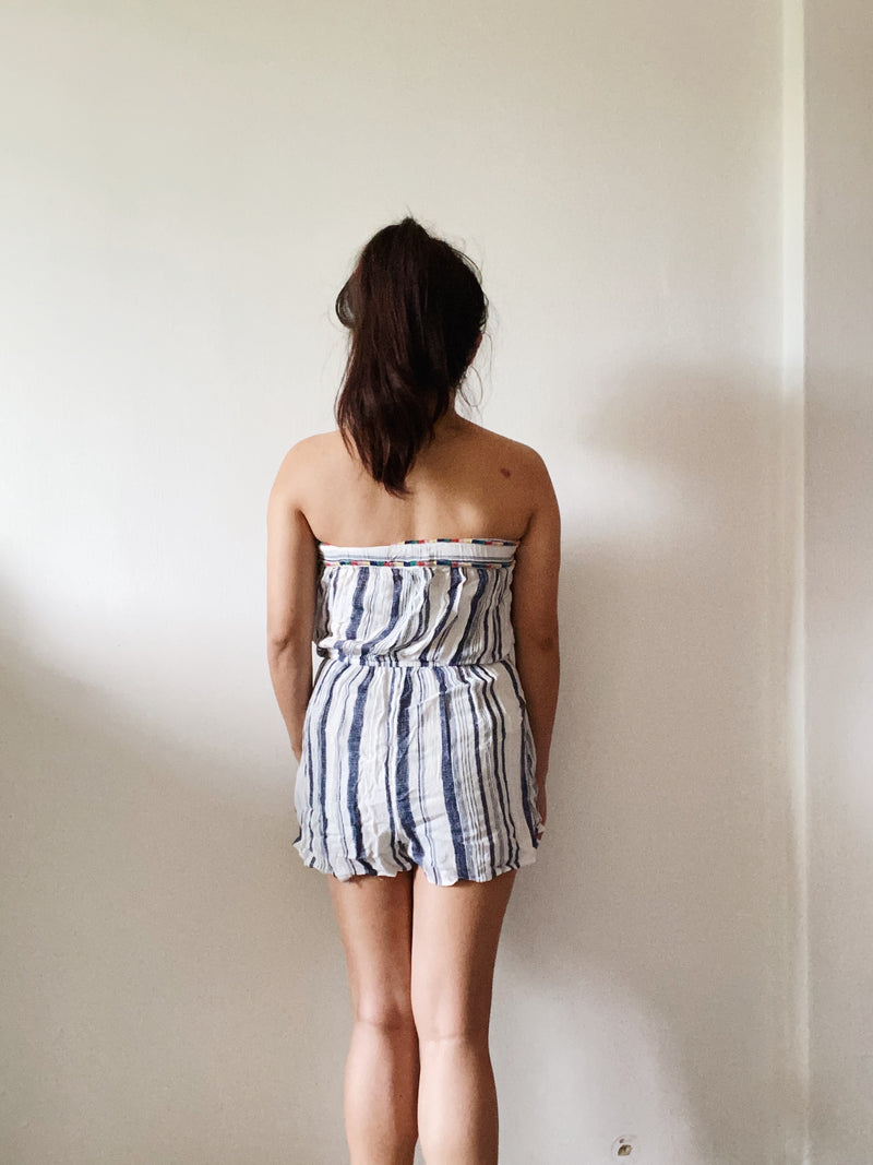 Forever 21 Striped Romper
