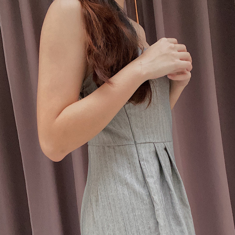 Grey wide legged jumpsuit