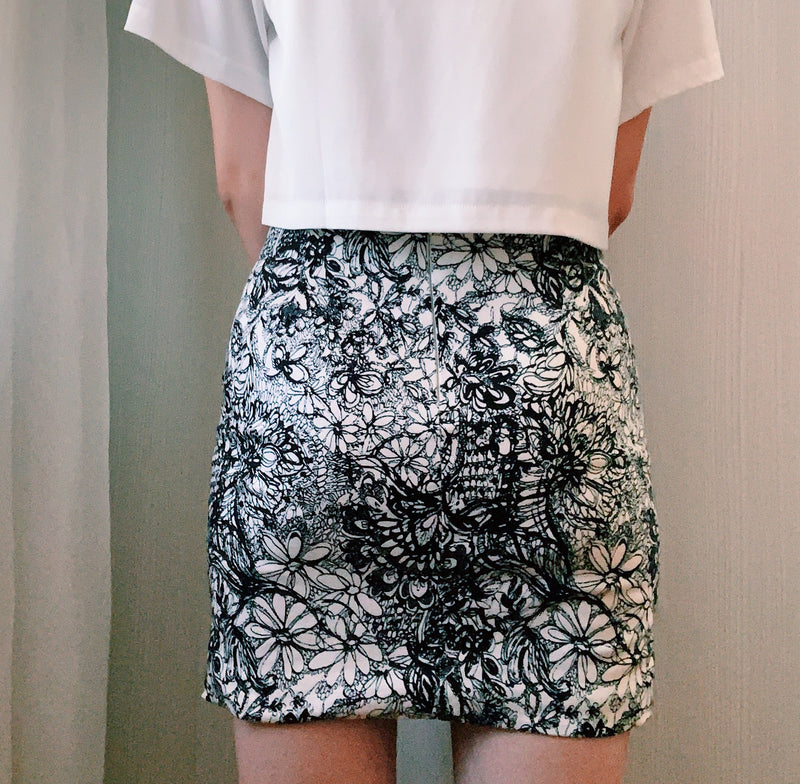 The Closet Lover's printed floral skirt
