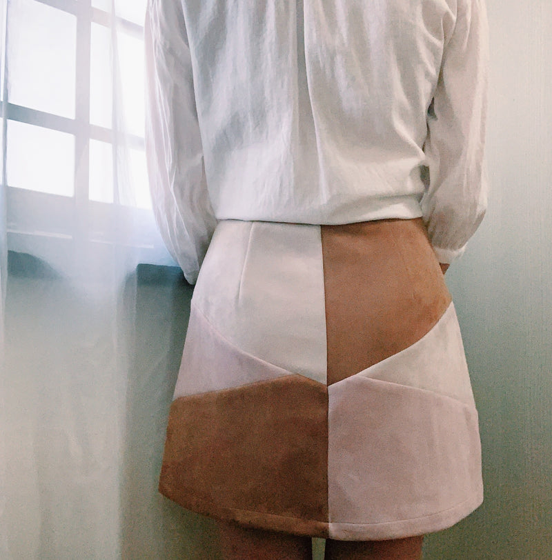The Closet Lover's colourblock skirt