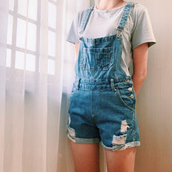 Hollyhoque's denim overalls