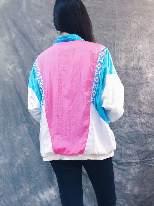 Casual Isle's Pink and Aqua windbreaker
