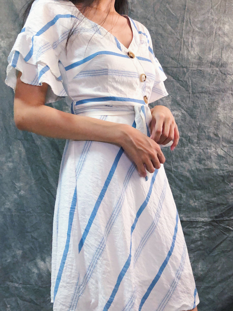 TTR's Blue & White stripe summer dress
