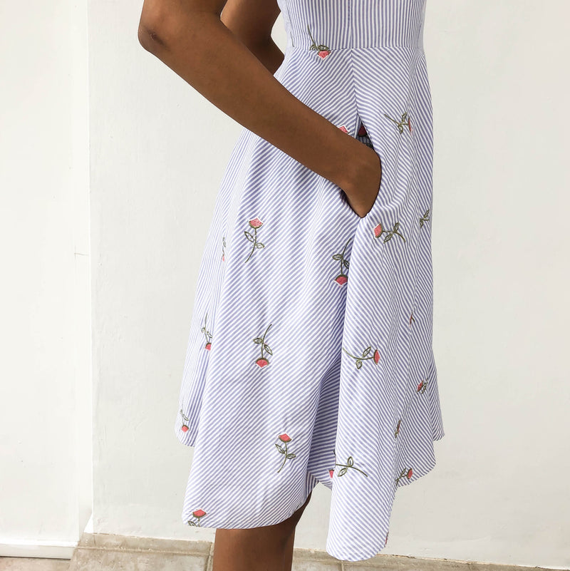 Intoxiquette Floral Striped Dress