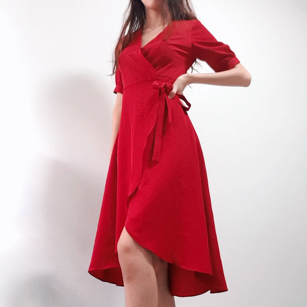 A for Arcade's Red Wrap Dress