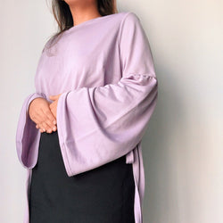 Asos Lilac Bell Sleeve Top